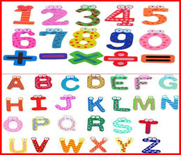 Wholesale Magnetic Girl - 2460PCS lot Fedex Ship New 26 English Character + 15 Number (41pcs lot) Funky Fun Colorful Magnetic Numbers Letters Wooden Fridge Magnets