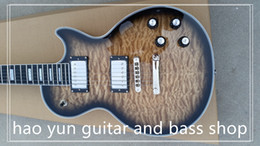 Wholesale Guitar Quilted Maple - NEW Arrival LP Custom Electric Guitar with TonePros,Ebony fretboard-fret nib binding, Quilted Maple Top&back, Brown burst color