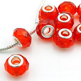 murano lampwork vidro buraco grande contas Desconto Moda Big Hole Beads Poliedro De Vidro Contas Soltas Europeu Marca Charme Pulseiras Para Fazer Jóias DIY Acessórios