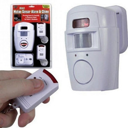 Wholesale Door Security - Motion Sensor Detector Alarm Wireless IR Infrared Sensor Remote Security System Indoor & Outdoor Alarm Sensor