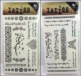 Wholesale Tattoo Stickers For Women - 32models for choose women temporary tattoo Arabic tattoo sticker freedom tatuagem temporaria