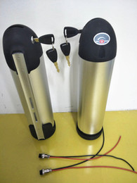 Wholesale China Free Shipping Eu Chargers - 48V 14Ah 750W powerful electric bicycle battery with 2A charger and sliver water bottle tube case in China stock AU USA EU free tax shipping