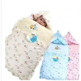 Wholesale Winter Blanket For Newborn Baby - Wholesale- NEW winter Baby sleeping bag as envelope for newborns baby cocoon wrap sleepsack sleeping bag baby blanket swaddling bedding set