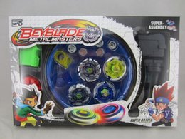 Wholesale Beyblade Metal Fusion Arena - Beyblade Metal Fusion Set 4pcs Beyblades With Launchers Beyblade Arena Constellation Spinning Top
