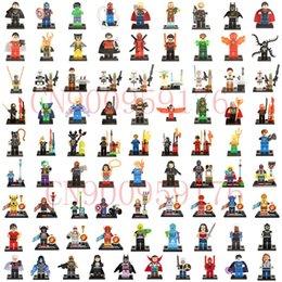 Wholesale Batman Minifigure Toys - 1500pcs lot Minifigure For Individually Single Sale Marvel Super Heroes Avengers Batman Building Blocks Model Bricks Toys