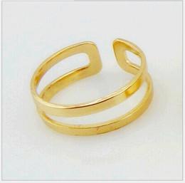 Doppel-finger-legierung ring online-Stilvolle Oberseite des Finger-Knöchels-offenen Ring-hohen Grades, der Legierungs-Art- und Weiseschmucksache-Doppelschicht-Gruppen-Ringe für Frauen 20pcs / lot R083 poliert
