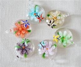 Wholesale Wholesale Blown Glass Pendants - Murano Blown Glass Pendant Necklace Fashion Statement Pendant jewelry
