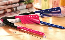 Wholesale Fine Finishing - 2015 new Hair styling comb V-clip-roots finishing straight comb comb comb splint to straighten free shipping