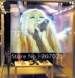 Wholesale Rear Adhesive Projection - Wholesale-1.524M*6M Holographic rear projection transparent screen Wide view angle adhesive high performance tech projector screen film