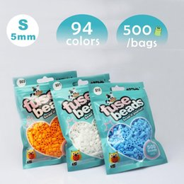 Wholesale 5mm Craft Beads - 1 Bag 500pcs 5mm Hama Beads Artkal Beads Perler Beads Fuse Beads For Early Educational Toys DIY Kids Crafts Toy B127