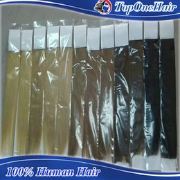Wholesale High Quality Remy Hair Wholesalers - High quality European peruvian brazilian tape in hair extensions blonde #613 color 100% Human hair weaves remy hair extensions