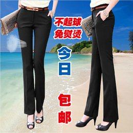 Wholesale Cargo Pants Style Women - Free shipping 2014 Summer Women OL high Waist Overalls formal Work Pants western-style trousers Plus Size XS ~ 5XL