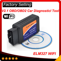 Wholesale Wifi Elm Interface - WiFi ELM 327 ELM327 OBD 2 II Car Diagnostic Interface Scanner TOOL dropshipping Wholesale free shipping