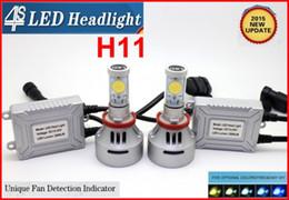 Wholesale Single 12v Led Bulbs - 1 Set H11 72W 7000LM CREE LED Headlight Single Beam 4S UPGRADED MT-G2 CHIP Xenon White 12V 24V 4 Color Films Changeable Free DIY H8 H16 9006