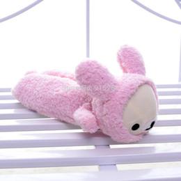 "Wholesale Rilakkuma Coat - Soft Lovely San-x Pink Rilakkuma Bear Wear Bunny Coat Plush Girls Kids School Pencil Pen Case Bag Pouches 11"" Brand"