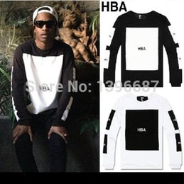Wholesale Cool Long Shorts - Tyga Cool Plus Size Hood By Air HBA T shirt Tee Men Hip Hop Extended short T-Shirt Tee Tops Hba Pyrex Shirt top tees CLOT Casual sweatshirt