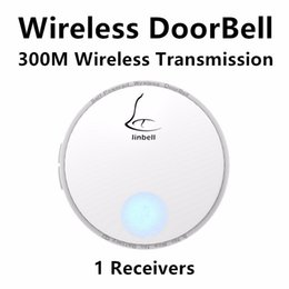 Wholesale Wireless Doorbell Waterproof Button - G2 Waterproof 120m Wireless Door Bell Doorbell with 38 Melody Home Smart Alarm + Push Button AC110V - 220V
