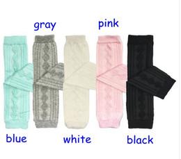Wholesale Toddler Girl Warm Leggings - New Children Girls Cotton Socks Toddlers Diamond Baby Leg Warmer Tube Socks Arm Warmers Baby Knitted Diamond Leggings Socks 5colors choose