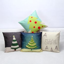 Wholesale Vintage Car Prints - 1pc Christmas Decoration Tree Home Decor Vintage Throw Pillow Case Sofa Waist Pillow Cover Car Sofa Cushion Cover Pillow Cover