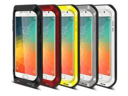 Wholesale Love Mei Aluminum Case - LOVE MEI Powerfull Drop resistance Corning gorilla glass+Aluminum Metal Armor case for Samsung Galaxy S6 Edge Plus