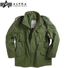 Wholesale M65 Coat - Fall-alpha m65 standard m65 jacket mens windbreaker &Warm coats Hunting winter jacket with linner outdoor&field Military