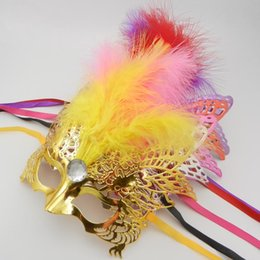 Wholesale Mask Masquerade Halloween Electroplated - 2015 new Party Masks Festive & Party Supplies Electroplating eagle mask Masquerade mask Christmas party free shipping