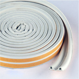 Wholesale Rubber Seal Stripping - Wholesale- E-type 9x4 doors and windows sealed soundproof white strip self-adhesive foam rubber EPDM weatherstrip free shipping DS380-1