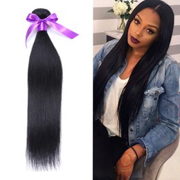 Wholesale Mongolian Remy Hair Sale Cheap - 6a Brazilian virgin hair straight soft tangle free natural black unprocessed virgin brazilian hair cheap remy human hair weave On Sale