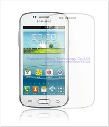 Wholesale Trend Ii Duo - Wholesale-2 x High Quality Clear Glossy Screen Protector Film Guard Cover For Samsung Galaxy Trend II Duos S7572 S7570 GT-S7572 GT-S7570