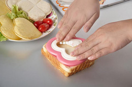Wholesale christmas cookie shapes - Practical DIY Heart Shape Sandwich Maker Cake Cookies Kids Lunch Bread Mould Food Cutter