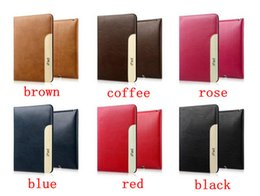 Wholesale Anti Dust Coffee - Business Leather Cover Case for iPad 2 3 4 iPad Air 1 2 Mini Smart Sleep Flip Stand Cover