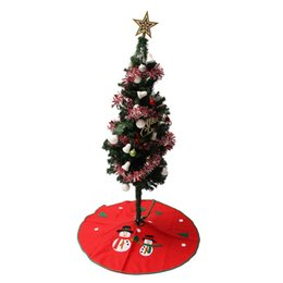Wholesale- Christmas Tree Skirt 90cm Snowman Stands Ornaments Xmas Party Decoration Merry Christmas Happy New Year от