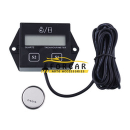 Wholesale Racing Tachometer - Digital Engine Tach Tachometer Hour Meter Gauge Resettable Inductive for Racing Motorcycle Instruments Wholesale