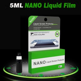 Wholesale Ipad Scratch Guard - 5ML NANO Technology Liquid Screen Protector Universal 3D Glass Invisible Tempered Glass Full Cover Guard Film For iPhone X 8 iPad Samsung