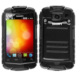 "Wholesale Smart Phone Mtk6515 - Hot Discovery V5 Shockproof Smart Android 4.0 phone 3.5"" Capacitive MTK6515 Dual SIM mtk6515 Dual Camera Bluetooth"