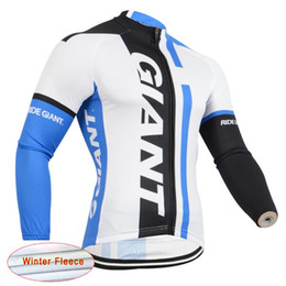 Wholesale Thermal Long Sleeve Shirts Men - Giant Pro Team Men's Cycling Thermal Fleece jersey Long Sleeve Bike shirt bicycle Clothing ropa Ciclismo Invierno