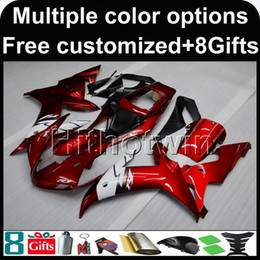 Wholesale Fairings For Motorcycles - 23colors+8Gifts RED Body motorcycle cowl for Yamaha YZF-R1 2002-2003 02 03 YZFR1 2002 2003 02-03 ABS Plastic Fairing