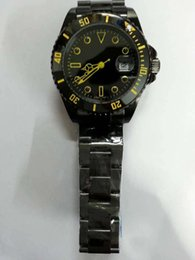 Wholesale Vintage Divers - Mens Luxury Brand Wristwatches Black Swiss PVD Stainless Steel Buckles Vintage Faces Date Fashion Mans Automatic Mechanical Watches for Men