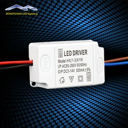 Wholesale Transformer Power 1w - 300Ma (1-3)x 1W Led Driver 1w 3w Lamp Driver Power Supply Light Lighting Transformer Adapter For External
