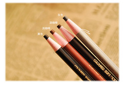 Wholesale Apply Cosmetics - Wholesale-1Set(4pcs) Applied Makeup Cosmetic Eye Liner Pencil Eyebrow Eyeliner with Light Brown Brown Black Grey Color Eyebrow Pencil