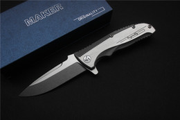 Wholesale Vg Shipping - Free shipping, high quality MAKER folding knife, blade material VG - 10, handle material TC4, outdoor sports hunting tools.
