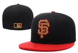 Wholesale Sport Caps Hats - Free shipping MLB San Francisco Giants Baseball Cap Embroidered Team logo Fitted Cap Sport Fit Hats