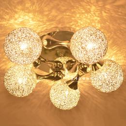 Wholesale Aluminum Wire Ball Lights - Wholesale-Modern fashion aluminum wire ball ceiling light personality circle flashlight silverchild room ceiling light