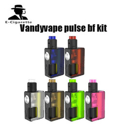 Wholesale Pink Pre - Pre-Order E Cigarette Vandy Vape PULSE BF Kit Pulse BF BOX MOD with 8ml Squonk Bottle With VandyVape Pulse BF 24 RDA Tank