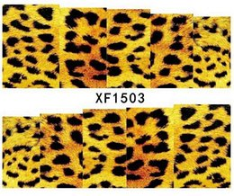 Wholesale Holiday Nail Art Stickers Decals - Wholesale-Animal World Leopard Pattern Printed Nails Art Decorations nail tools stickers Party Holiday Decals XF150301