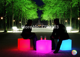 Wholesale Furniture Magic - Wholesale-NEW!50CM100% unbreakable led Furniture chair table Magic Dic Remote controll square cube luminous light for variety of occasions