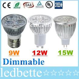 Canada Le CREE 9W 12W 15W a mené la lumière E27 E26 B22 MR16 GU10 d'ampoule de tache menée par lampe de lumières de Dimmable chauffant / Natrual / blanc froid AC110-240V / 12V Offre