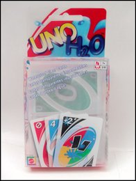 Wholesale Uno Card Game Plastic - 2015 PVC transparent waterproof UNO poker card family fun entermainment board game Kids funny Puzzle game J070802#