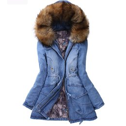 Wholesale Long Padded Hooded Coats Women - High Quality Thicken Cowboy Cotton-padded Jacket Women's Winter Coat Women's Outerwear Cowboy Cotton-padded Clothes SizeS M L XL XXL