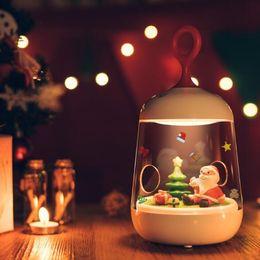 Wholesale Micro Night Light - Christmas Lights Father Christmas 3D LED Night Light Micro Landscape LED Night Lamp Rechargeable Touch Sensor USB Light CCA8306 120pcs